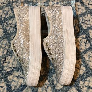 Kate Spade Triple Glitter Sneakers Cream for Keds
